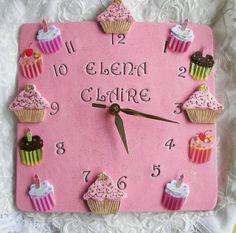 Magdalena reloj cerámica 10 en color rosa por Angelheartdesigns