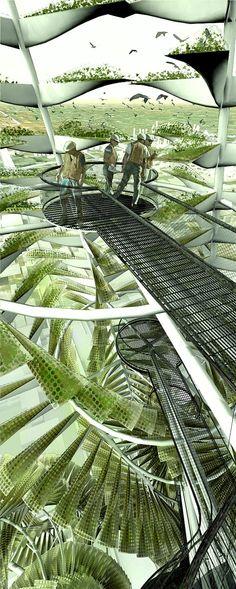 Vertical Farming Infrastructure.  #UrbanFarm  #VerticalFarming