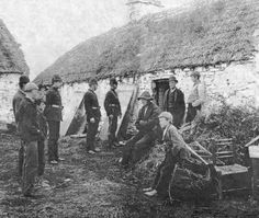 Irish Famine. Looks like they were being evicted here.