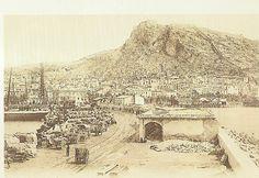 GRABADOS Y PRIMERAS FOTOS DE ALICANTE ~ Alicante Vivo- Vista de Alicante desde el puerto, a finales del siglo XIX.