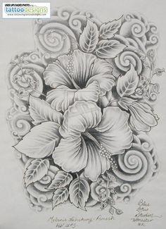 hibiscus tattoos designs for women | Image Tattooing Tattoo Designs - Free Download Tattoo #40109 Hibiscus ...: