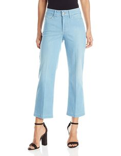 NYDJ Women's Sophia Flare Ankle Jeans in Sky Blue Denim >>> Click image for more details.