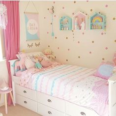 55 Pink Bedroom Ideas for Toddler girls You Are Looking For Toddler Girl Bedroom Bedroom bedroomdes girls Ideas pink toddler Little Girl Bedrooms, Pink Bedroom For Girls, Pink Bedrooms, Room Girls, Pastel Girls Room, Pastel Room Decor, Pastel Bedroom, Pink Room, Girl Bedroom Designs