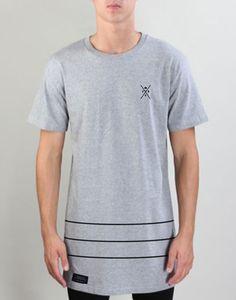 SPEAR LOWER STRIP TEE 100% Cotton Tall T-shirt. Sizes - S, M, L, XL, XXL.