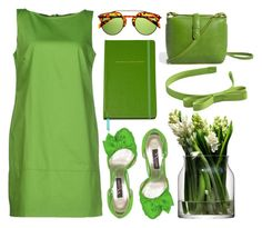 """green"" by amelie-poulain-amelie ❤ liked on Polyvore"