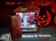 This week for Case Mod Friday we have a Gears of 4 themed build from ZenModz.  I really like this as we do not see many Gears of War mods as it is mainly a Xbox game, but we actually play a good amount of Gears of War 4 on PC!  This build was done inside of the Cooler Master MasterCase Maker 5, which is a delight to build in!  Check it out!