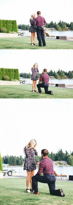 He included all their loved ones in the most romantic backyard proposal, and it's incredible!