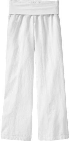 Women's Fold-Over Linen Pants thestylecure.com