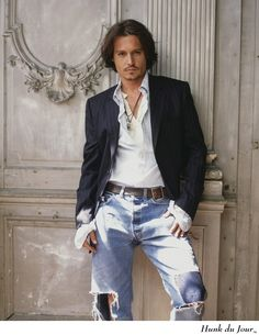 Johnny Depp...sorry Johnny my man has rocked this style for years
