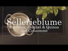 Sellerieblume mit Nuss, Fenchel & Quinoa und Consommé Quinoa, Fennel, Good Food, Flowers, Recipies