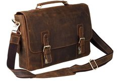 Peacechaos® Mens Top Layer Real Cow Leather Shoulder Briefcase Attache 15.6 Inch Laptop Bag Tote Peacechaos http://www.amazon.com/dp/B00VXAP0TM/ref=cm_sw_r_pi_dp_7Izmwb1P9F9Y9
