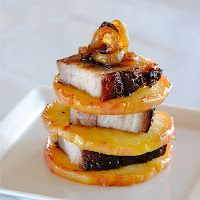 JULES FOOD...: Cured Pork Belly Roasted with Apple, Onion and Brown Sugar