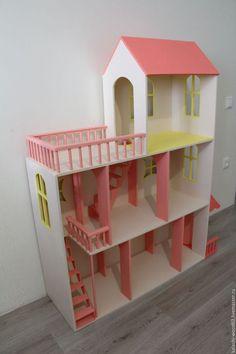 Кукольный дом ручной работы. Кукольный домик. Kalashi-wood63. Ярмарка Мастеров. Фанера 10мм и 4мм