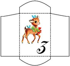 Sweetly Scrapped: Free Advent Envelopes For Christmas (Most of them are not as cute as this...)
