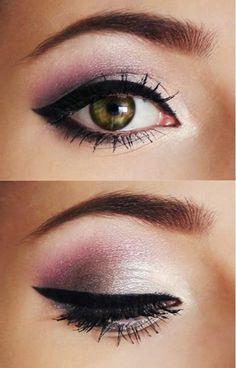make up tipps augen schwarzer eyer liner lidschatten