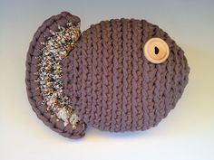 Lady Crochet: Pez de trapillo XL Make with t-shirt yarn