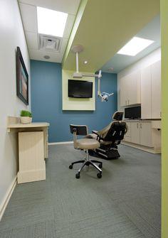 Clutter free dental office...what a novel idea!
