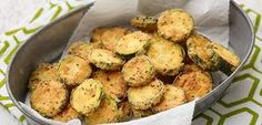 Fried Zucchini Coins By Food Network Kitchen Chef Recipes, Italian Recipes, Vegetarian Recipes, Healthy Recipes, Easy Recipes, Healthy Dishes, Tasty Dishes, Healthy Eating, Food Network Uk