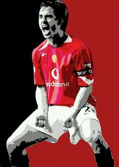 Gary Neville of Man Utd wallpaper.