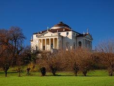 Villa La Rotonda, Vicenza, northern Italy, designed by Andrea Palladio. Andrea Palladio, Famous Architecture, Architecture Details, Neoclassical Architecture, Architecture Models, Thomas Jefferson Home, Vicenza Italy, Umbria Italy, Republic Of Venice