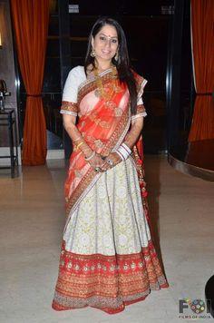 Tangerine and lemon with white work and tikki embroidery. Follow http://www.facebook.com/Kolkata.Embroidery.Taraana