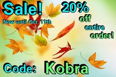 "20% off your entire order. Going on now until Oct. 11th. Use code ""Kobra"" at checkout. www.KobraKydexGear.com #kobrakydexgear #kydex #holster #sale #knuck #edc #bulletpen"