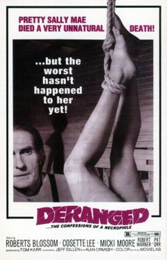 Deranged movie based on the life of Ed Gein