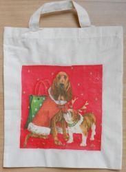Baumwolltasche-Weihnachten-Hunde