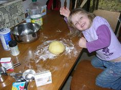 JELLO PLAYDOUGH  1 Cup white flour  1/2 cup salt  2 tablespoons cream of tartar  2 tablespoons vegetable oil  1 cup warm water  1 three ounce package of jello - flavor of your choice. *Note, the flavor you choose will be the scent of your playdough. In our case we used lemon, so the final result is lemon scented and yellow.