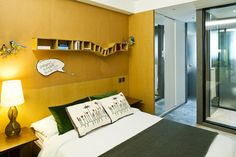 Houzz Tour: Boldly Stylish in Hong Kong Shedding its tenement past, this small apartment has colorful touches and a few design tricks up its sleeve | modern bedroom by Urban Design & Build Limited