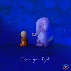 Buddha Doodles - Share your light. Tiny Buddha, Little Buddha, Buddah Doodles, Buddha Thoughts, Doodle Quotes, Sketch A Day, Positive Inspiration, Spiritual Wisdom, Magazine Art
