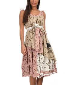 Loving this Beige & Pink Floral on #zulily! #zulilyfinds