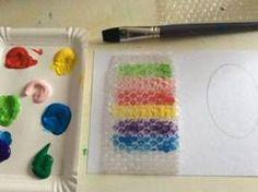 Velikonoční tvoření s bublinkovou fólií