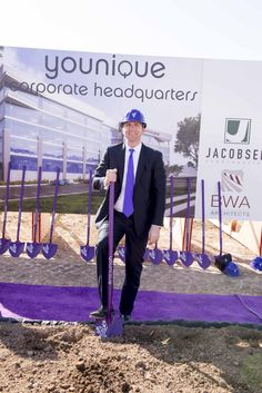 Our CEO and Cofounder Derek Maxfield at the Younique groundbreaking ceremony.