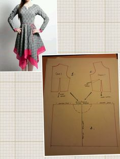 All Things Sewing and Pattern Making - Salvabrani Frock Patterns, Dress Sewing Patterns, Blouse Patterns, Sewing Patterns Free, Clothing Patterns, Blouse Designs, Dress Tutorials, Sewing Tutorials, Refashion Dress