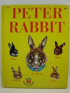 Peter Rabbit, vintage children's book