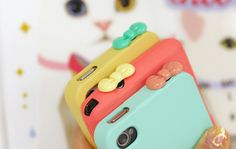 Cute ribbon ear caps for your phone!