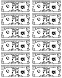 ANGRY BIRDS Play Money Dollar Bill Coloring Page RED Girl Bird Printable Party Favor Craft Pinata