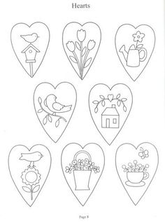 Awesome Most Popular Embroidery Patterns Ideas. Most Popular Embroidery Patterns Ideas. Wool Applique, Embroidery Applique, Cross Stitch Embroidery, Machine Embroidery, Embroidery Hearts, Hand Embroidery Patterns, Applique Patterns, Fabric Crafts, Sewing Crafts