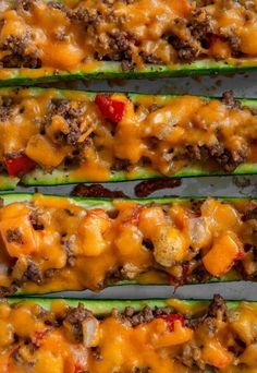 Zucchini Boats, Avocado Boats, Keto Side Dishes, Main Dishes, Keto Friendly Vegetables, Real Food Recipes, Diet Recipes, Carbs Protein, Football Snacks