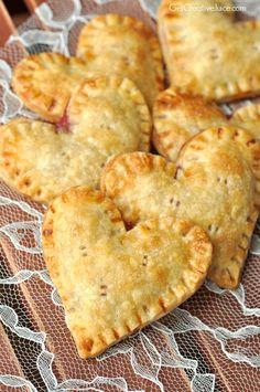 Heart Shaped Raspberry Hand Pies - Creative Juice