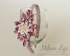 Kanzashi Flower Headband on Etsy, $20.00