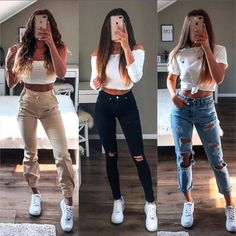 cute outfits with leggings & cute outfits ; cute outfits for school ; cute outfits for winter ; cute outfits with leggings ; cute outfits for school for highschool ; cute outfits for women ; cute outfits for school winter Cute Outfits With Leggings, Legging Outfits, Cute Comfy Outfits, Simple Outfits, Stylish Outfits, Casual Teen Outfits, Sporty Outfits, Cute Outfits For School, Outfits For Teens