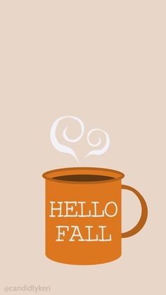 Hello Fall mug cute fall wallpaper 2016 wallpaper you can download for free on the blog! For any device; mobile, desktop, iphone, android!