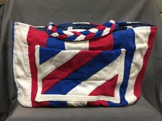 TOTE BAG   red white and blue by NanasSweeties51 on Etsy