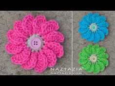Crochet Flowing Flower - Flowers by Donna Wolfe from Naztazia