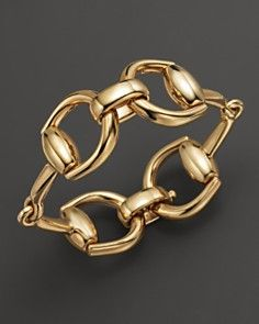 gold horsebit bracelet  I don't have horses, but this is super cute!