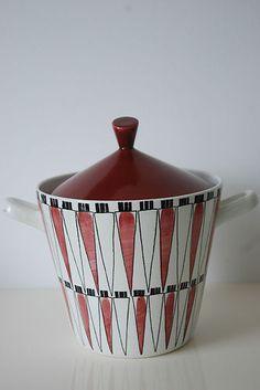 Rorstrand Sweden Picknick Red Carrot Lidded Terrine Marianne Westman | eBay