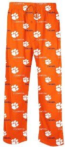 Clemson Tigers Men's NCAA Prospect Pajama Pants by Concepts Sports. $26.95. With brand new design lines these Clemson Tigers Men's Prospect Pajama Pants from Concepts Sports will let you show your team logos while you lounge around in comfort. With a loose-fit body these 100% Soft light-weight Cotton pants come in Orange and feature a single-button fly closure, side pockets, and an elastic waistband with a drawstring. If these PJ Pants don't fit you then don't worry wit...