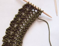 This is the beginning of this shawl: Andrea's Shawl You knit the lace edging as a long strip, then pick up stitches along the straight edge and knit the rest of the shawl. This is the first …